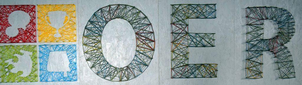 Logo auf dem OER-Camp Aufsteller