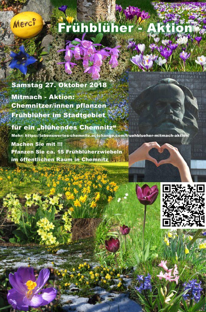 Flyer für Frühblüher-Aktion 2018 in Chemnitz