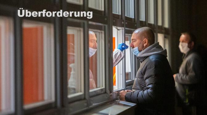 Corona Überforderung im Chemnitzer Gesundheitsamt und Testzentrum