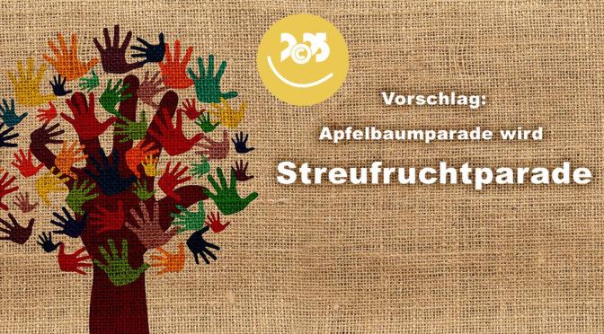 C2025: Apfelbaumparade wird Streufruchtparade